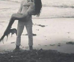 mermaid, love, and kiss image