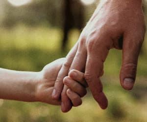 child, fingers, and holding hands image