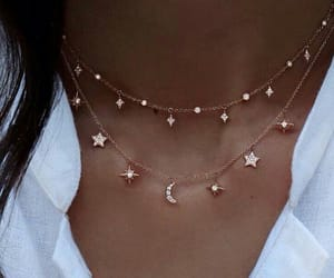 classy, moon, and necklace image
