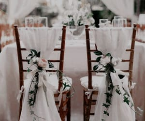wedding, decoration, and flowers image