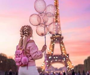 girl, paris, and pink image