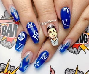 acrylic, Louis Vuitton, and nails image