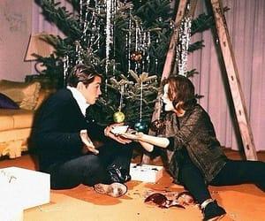 christmas, vintage, and couple image