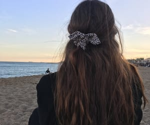 Barcelona, beach, and brunette image