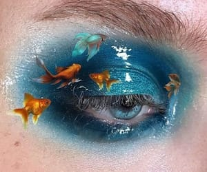 blue, eye, and fish image