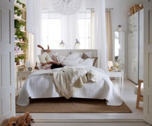 bed, bedroom, and ikea image