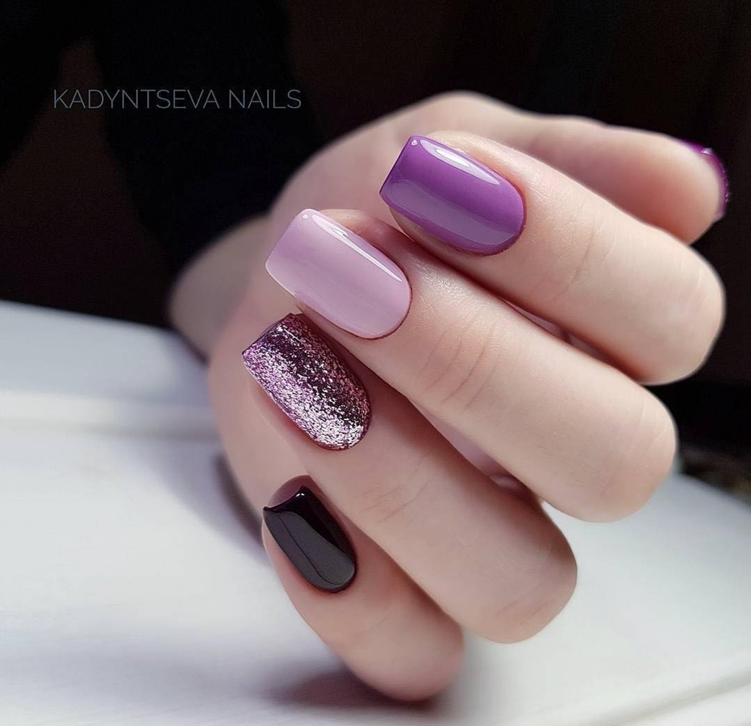 Purple Black Nails Uploaded By