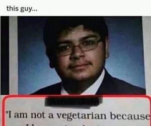 meme, vegan, and vegetarian image