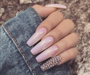 pink, pink nails, and girly inspo image