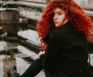 alone, beautiful, and ginger hair image