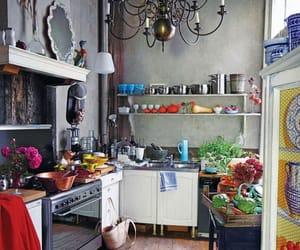 vintage kitchen, eclectic kitchen, and boho kitchen image