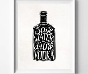 etsy, save water, and typography print image