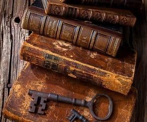 books, vintage, and keys image