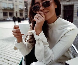 coffee, chic, and look image