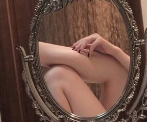 mirror, legs, and aesthetic image