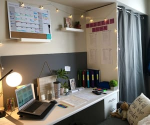 desk, motivation, and organized image