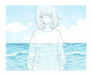 blue, anime, and anime girl image