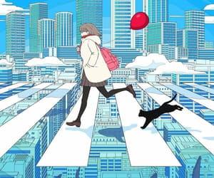 illustration, art, and city image