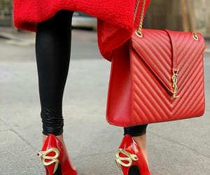 bag, fashion, and high heels image