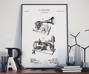 etsy, patent print, and patent poster image