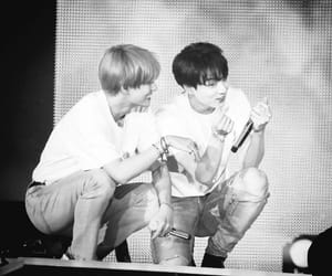 black and white, smile, and jungkook image