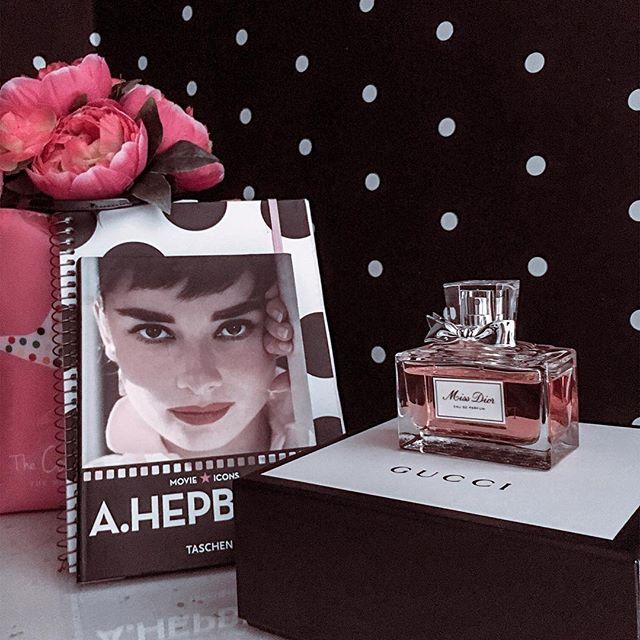 audrey hepburn, dior, and home decor image
