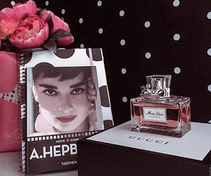 audrey hepburn, dior, and home decor image