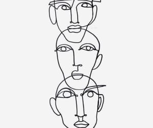 face and lines image