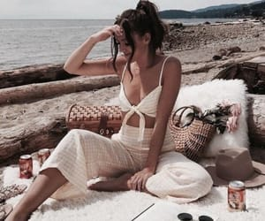girl, fashion, and beach image