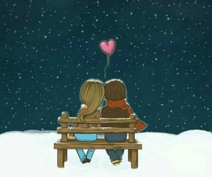love, heart, and snow image