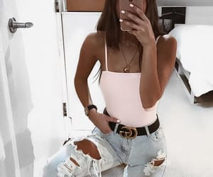 belt, fashion, and jeans image