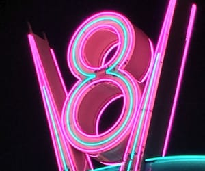 aesthetics, neon, and pink image