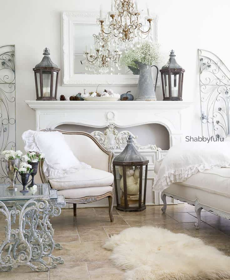 French Country Farmhouse Elegant And Simple Fireplace Mantel