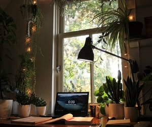 desk, green, and home decor image