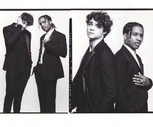 noah centineo, black and white, and asap rocky image