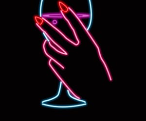 neon, light, and wallpaper image