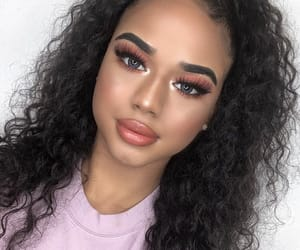 beauty, curly hair, and eyes image