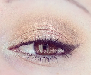 black, brown eyes, and eyeliner image