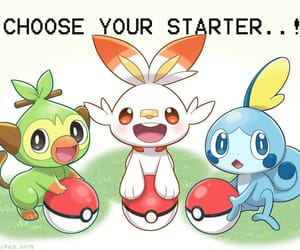 pokemon, grookey, and scorbunny image