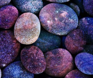 galaxy, stone, and purple image