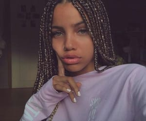 girl, braids, and eyes image