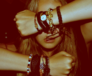 girl, bracelet, and watch image