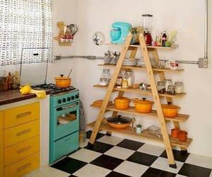 cocina, hogar, and retro image