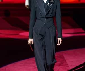 coat, fashion, and runway image