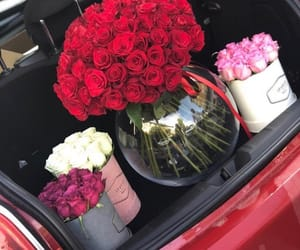 flowers, car, and lovely image