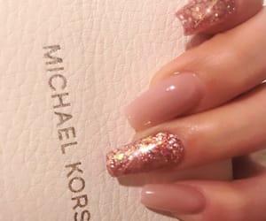 acrylic, glitter, and Michael Kors image