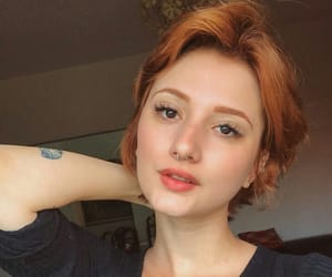 ginger, orange hair, and piercing image