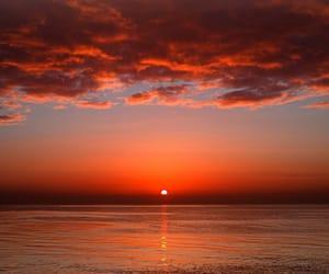 sunset, beautiful, and sea image