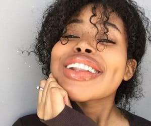big lips, flawless, and curly hair image