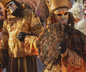 carnival, mask, and couple image